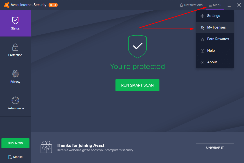 key avast internet security 2020